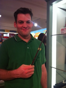 Husband with wand