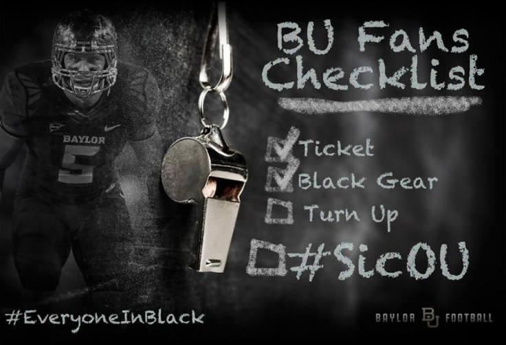 Baylor Blackout Game Checklist